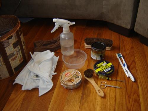 My bootblacking kit
